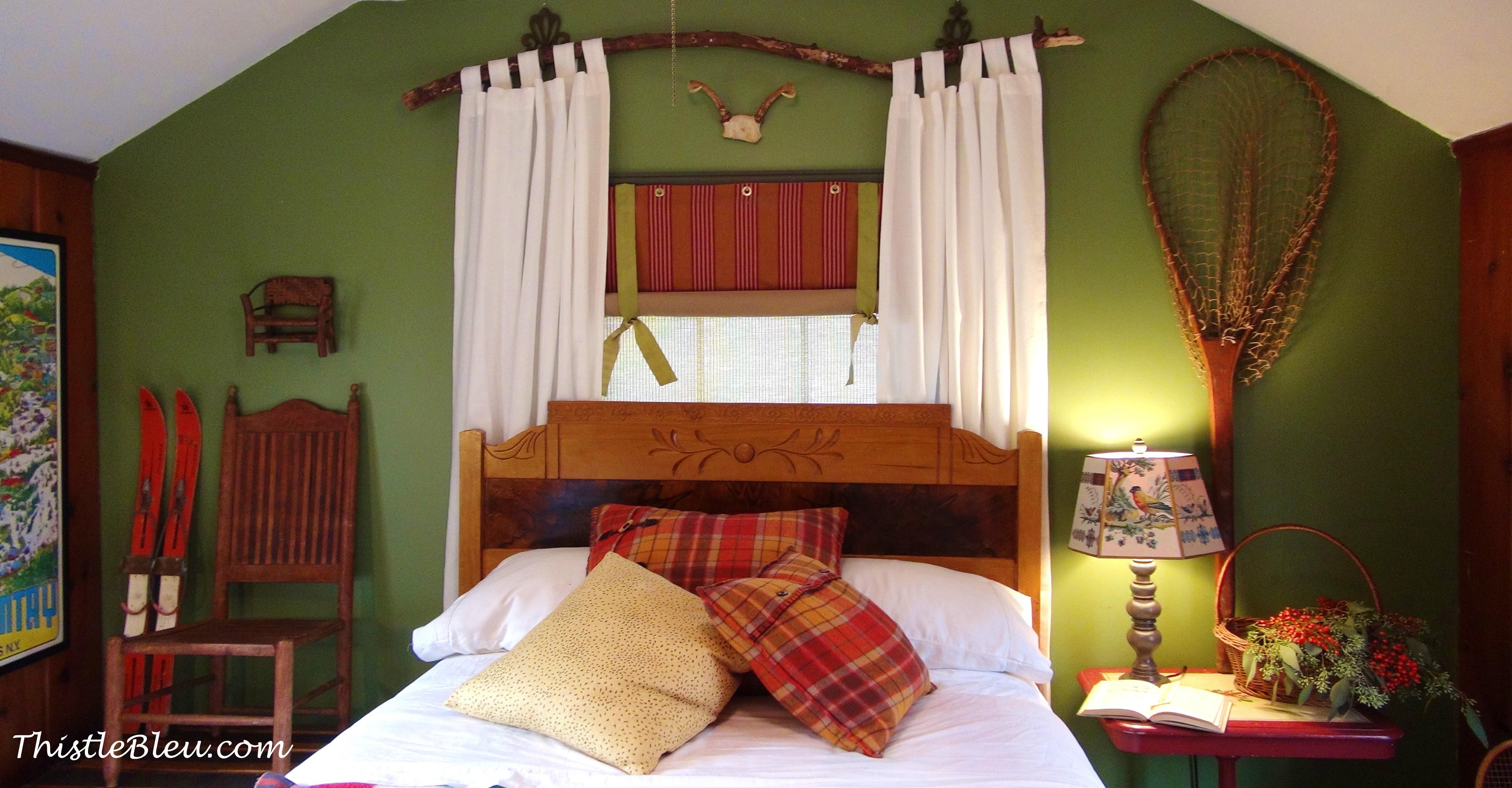 Adirondacks Inspired Guest Room Thistle Bleu